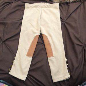 Other - Girls Tan ridding pants with Gold Buttons Size 2t